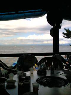 今日は琵琶湖畔
